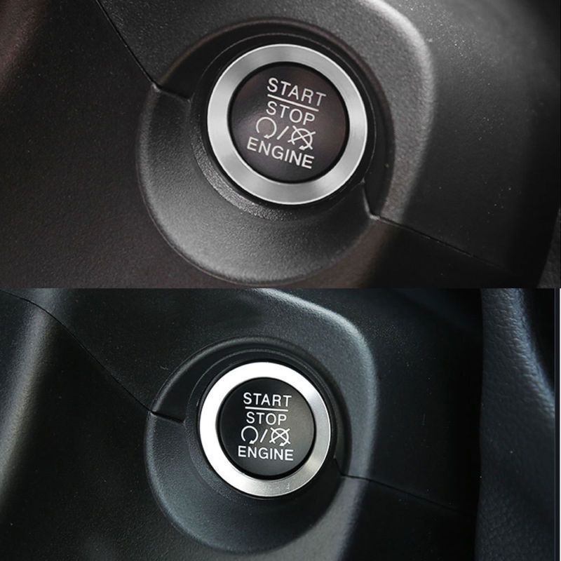 To Auto Start The Circle The Ignition Key Ring Trim for Jeep Compass 2017 2018