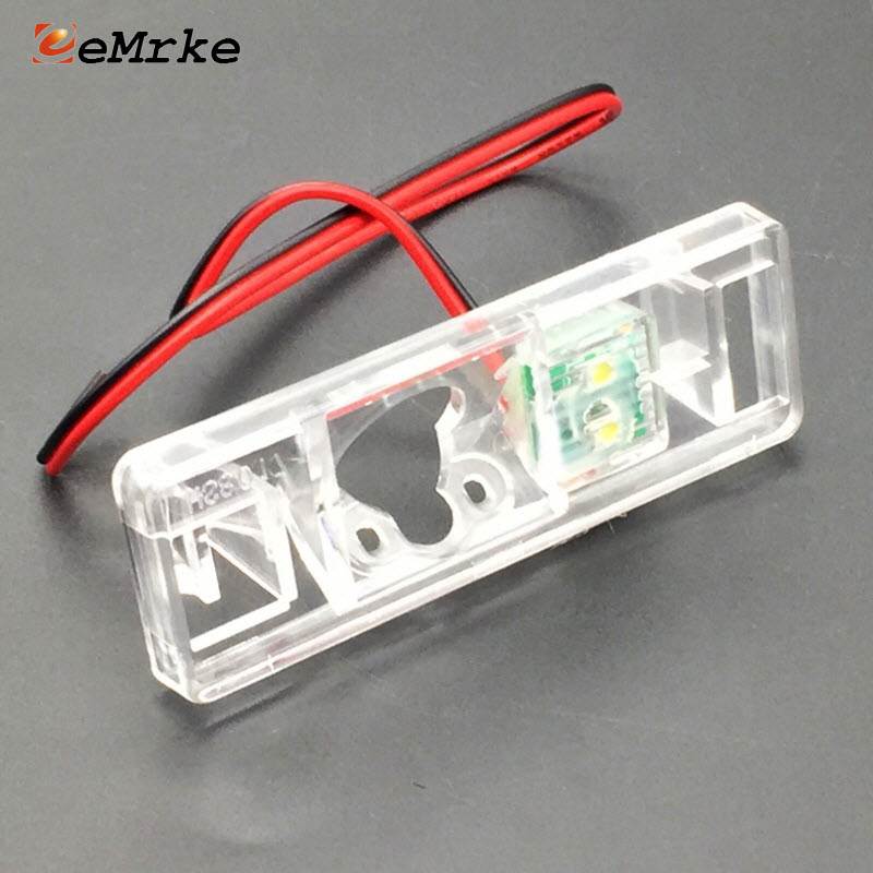 EEMRKE For Nissan X Trail X-Trail Xtrail T31 2007-2013 Car Rearview Camera Bracket License Plate Lights Housing Mount