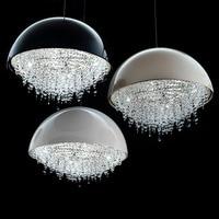 Semi circular simple modern crystal chandelier restaurant study walkway spherical crystal decoration engineering custom metal