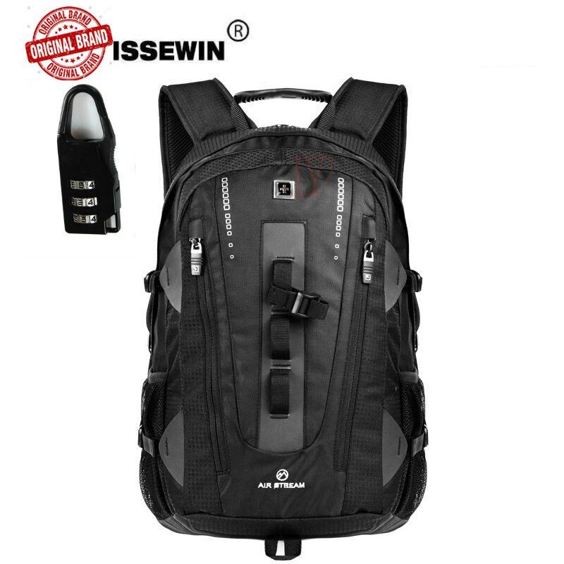 Suissewin voyage étanche hommes 17 sacs à dos d'ordinateur portable étanche sac à dos pour ordinateur portable en nylon noir Mochila Masculina Pack pour les étudiants