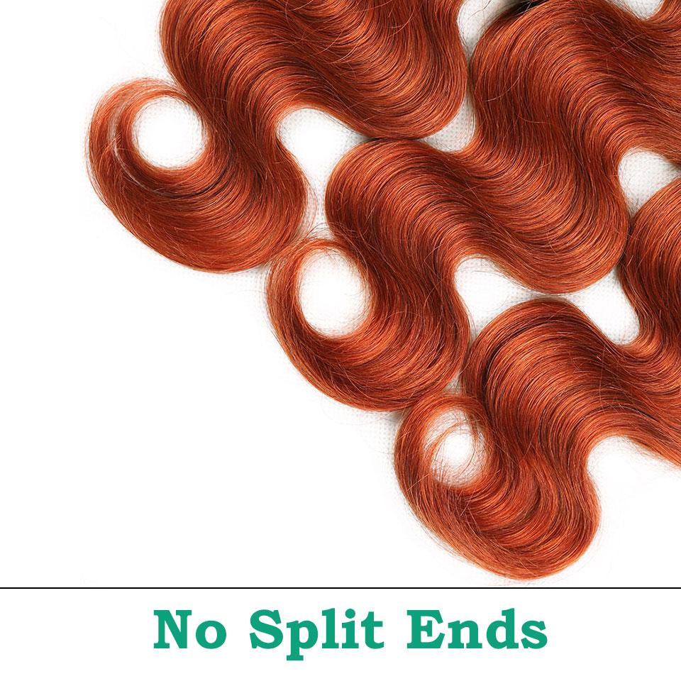unice hair orange bundles with closure  (6)