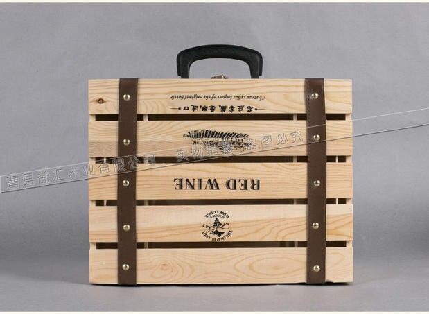 caja del vino rojo de seis vino tinto caja de madera logo general caja de vino de alta calidad caja de regalo seis caja de vino en otros muebles de hotel de