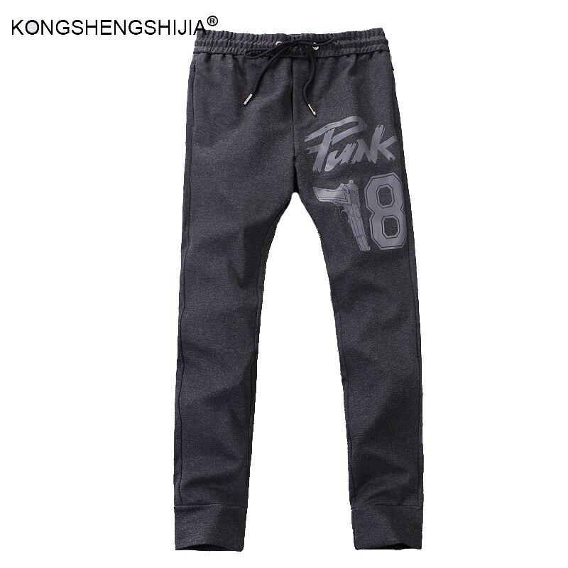 2017 новая мода хлопок спортивные брюки случайные jogger брюки мужчины карандаш брюки тренировочные брюки середине вес шаровары YUK2005