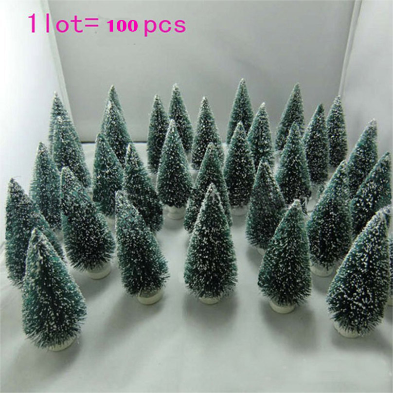 100 pc Christmas Tree Mini Christmas Tree A Small Pine Tree Decoration Placed In The Desktop