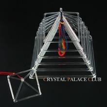 """7 шт. кристалл поющая Пирамида набор """" 4"""" """" 6"""" """" 8"""" """" Прозрачное кварцевое"""" пение """"Пирамида"""