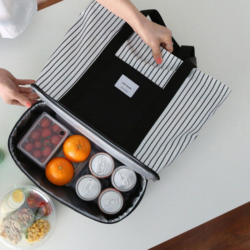 Yesello New Lunch Bag Food Picnic Bags For Women Children Portable Insulated Thermal Cooler Lunch Box Tote Storage Bag Picnic