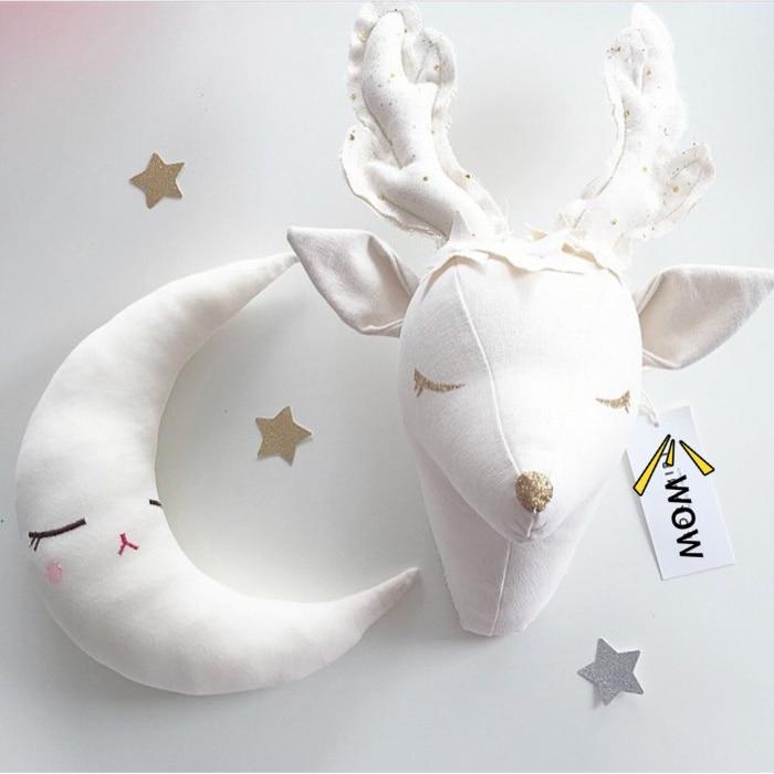 5 моделей голова животного Декор стены/кукла олень украшение стены ягненка куклы Детская комната настенные украшения Рождество - Цвет: Reindeer