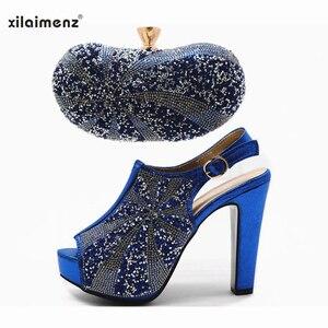 Image 5 - Vente chaude chaussures et sac couleur or haute qualité chaussures italiennes femmes et sac pour correspondre à la chaussure de fête africaine Super talons hauts