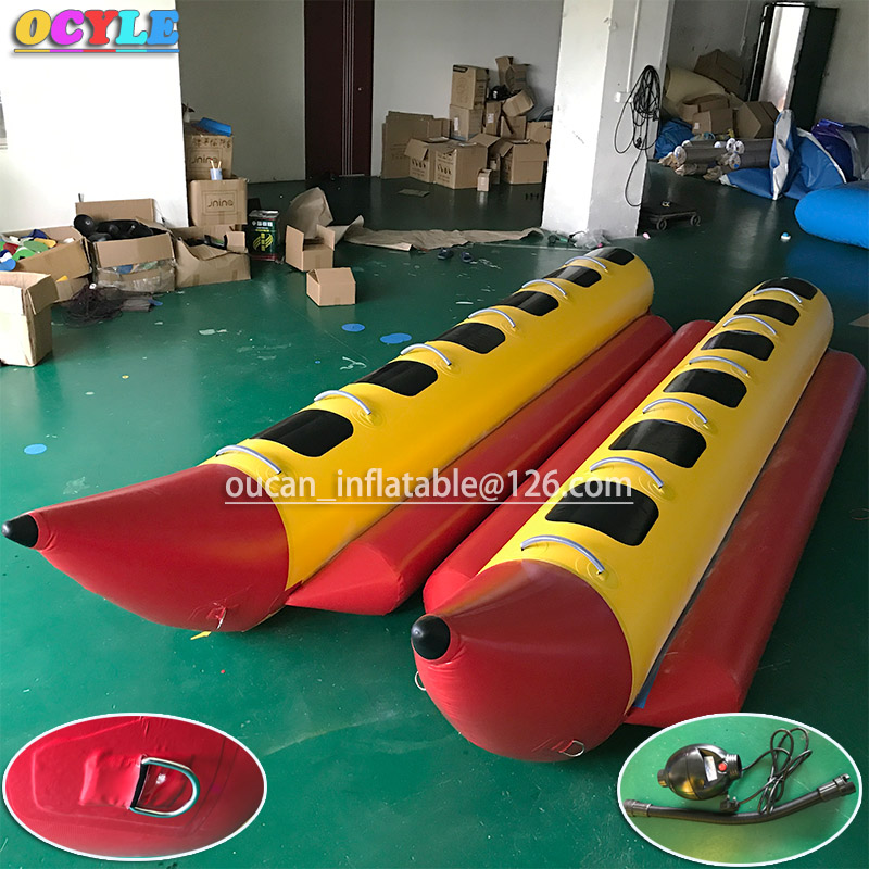OCYLE free air shipping+1pc air pump,6persons/seats inflatable flying water banana boat,inflatable flying fish/flyfish sea games