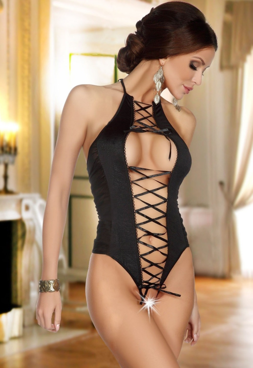 Aliexpresscom  Buy Free Shipping 2014 New Porn Lingerie Sexy Teddies Erotic Lingerie Hot Sexy Costumes,Pajamas For Women Free Shipping From -7771