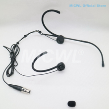 Headset Headworn Microphone For Shure Foldable Earset Mic Wireless BeltPack Transmitter TA4F mini XLR 4Pin MiCWL E6i Black Beige skin color mini xlr 4 pin ta4f wired single earhook condenser headset microphone for shure wireless system bodypack transmitter