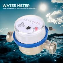 """Счетчик воды 15 мм 1/"""" счетчик сухой воды для сада дома пластиковый счетчик холодной воды один поток воды сухой стол compteur eau"""