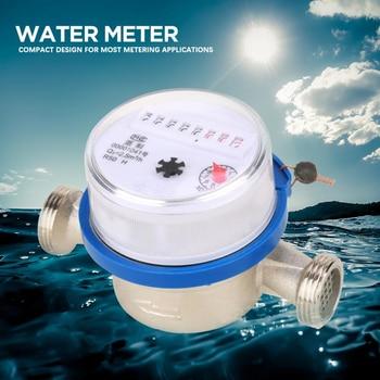 цена на Water Meter 15mm 1/2 Dry Water meter Garden Home Plastic Cold Water Meter Single Water Flow Dry Table compteur eau
