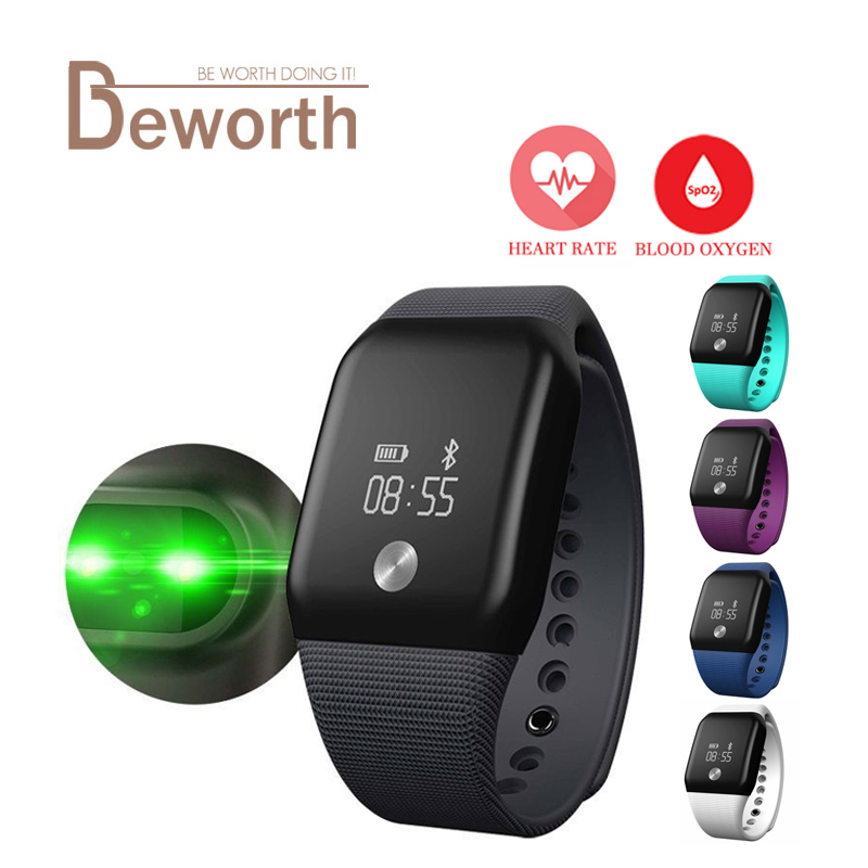 A88 + Kadar Jantung Gelang Pintar Darah Oksigen Darah Sukan Band Kecergasan Tracker Pedometer BT4.0 Wristband PK Mi Band 2