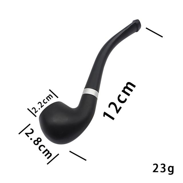 Mini Portable Smoking Pipe Black Delicate Smoking Tobacco Pipe Filter Cigarette Holder Friend Family Gift Men Necessary Supplies