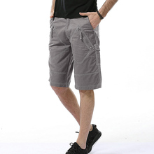 2017 tops brand men knee length Pants Shorts Men's Cotton frock Multi Pocket fashion casual pants 6 colors can wear size add 40 цена в Москве и Питере
