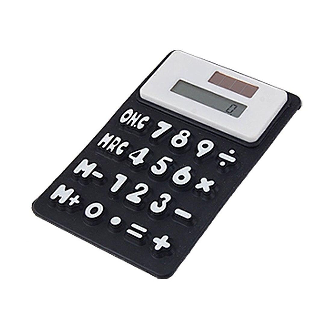 Силиконовые магнитный холодильник Стикеры 8 цифр калькулятор, черный
