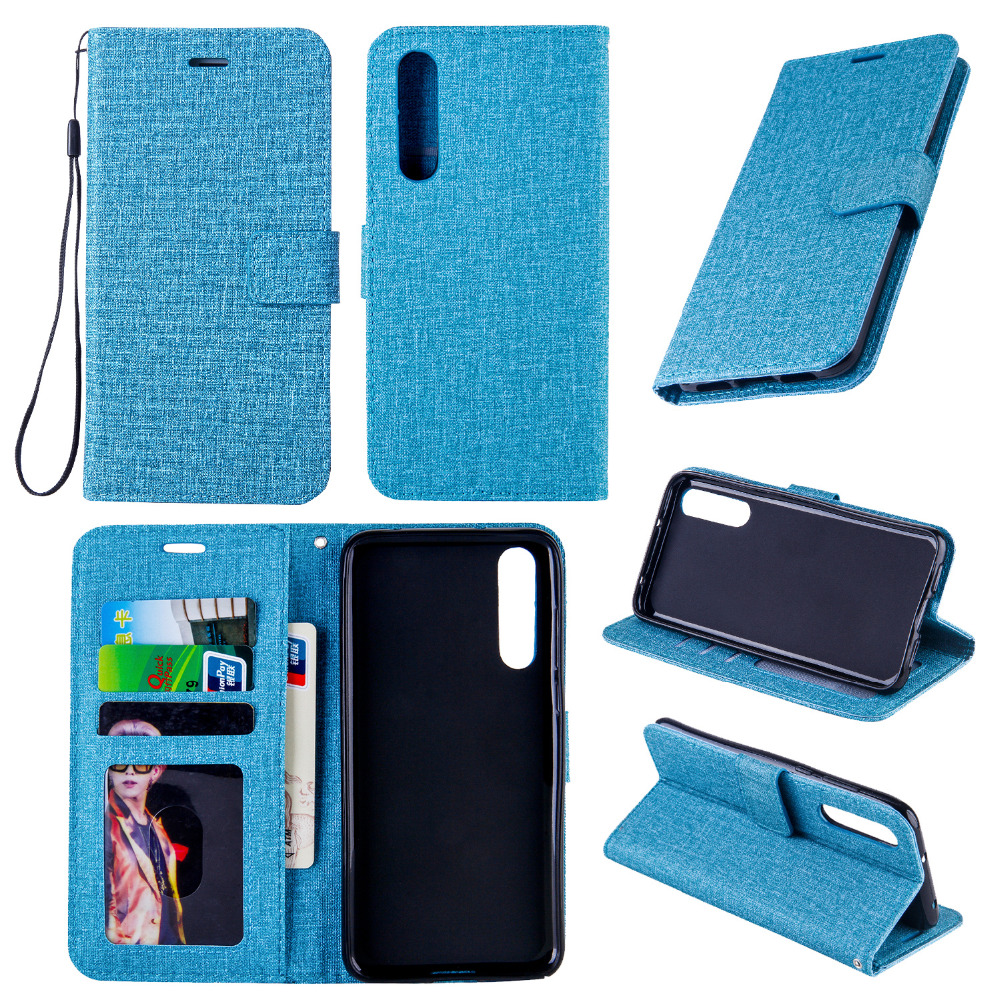 Luxury Linen Leather Magnetic Wallet Cover For Huawei p20lite Stand Flip Card Hold Phone Bag For Huawei P20 Plus p20 Coque Funda