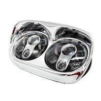 5,75 светодиодный двойной проектор фары мото светодиодный фары для Harley Davidson Road Glide 2004 2013 для Harley Davidson аксессуары
