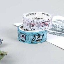 Фотография 2 pcs Kawaii Dogs 1.5cmx3m Washi Tape Adhesive Tape DIY Scrapbooking Sticker Label Masking Tape Craft Scotch