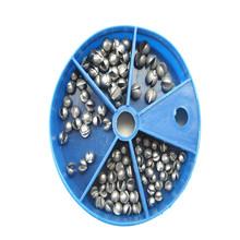 Wysokiej jakości Fishing Egg Bullet Rig obciążnikami wędkarstwo ołów waga Split shot Box pięć modeli nie łatwo zdeformowane gorąca sprzedaż tanie tanio Ocean łódź wędkowanie 1 8 mln Innych W MUQGEW Fishing Lead Sinkers Other Rod