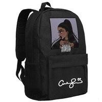 Ariana Grande Backpack for Teenage Girls Schoolbag in Black Color Preppy Bookbag
