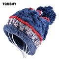 Moda chapéus para mulheres gorros homens inverno cap tricô de lã chapéu da marca Além de veludo manter aquecido gorros gorro de algodão Casuais tampas