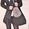 Юньнань Этнический Стиль Женщины Большие Сумки Модные Досуг Высокого объем Моды Кроссбоди Сумка Женская Хлопок Дизайнер Сумка