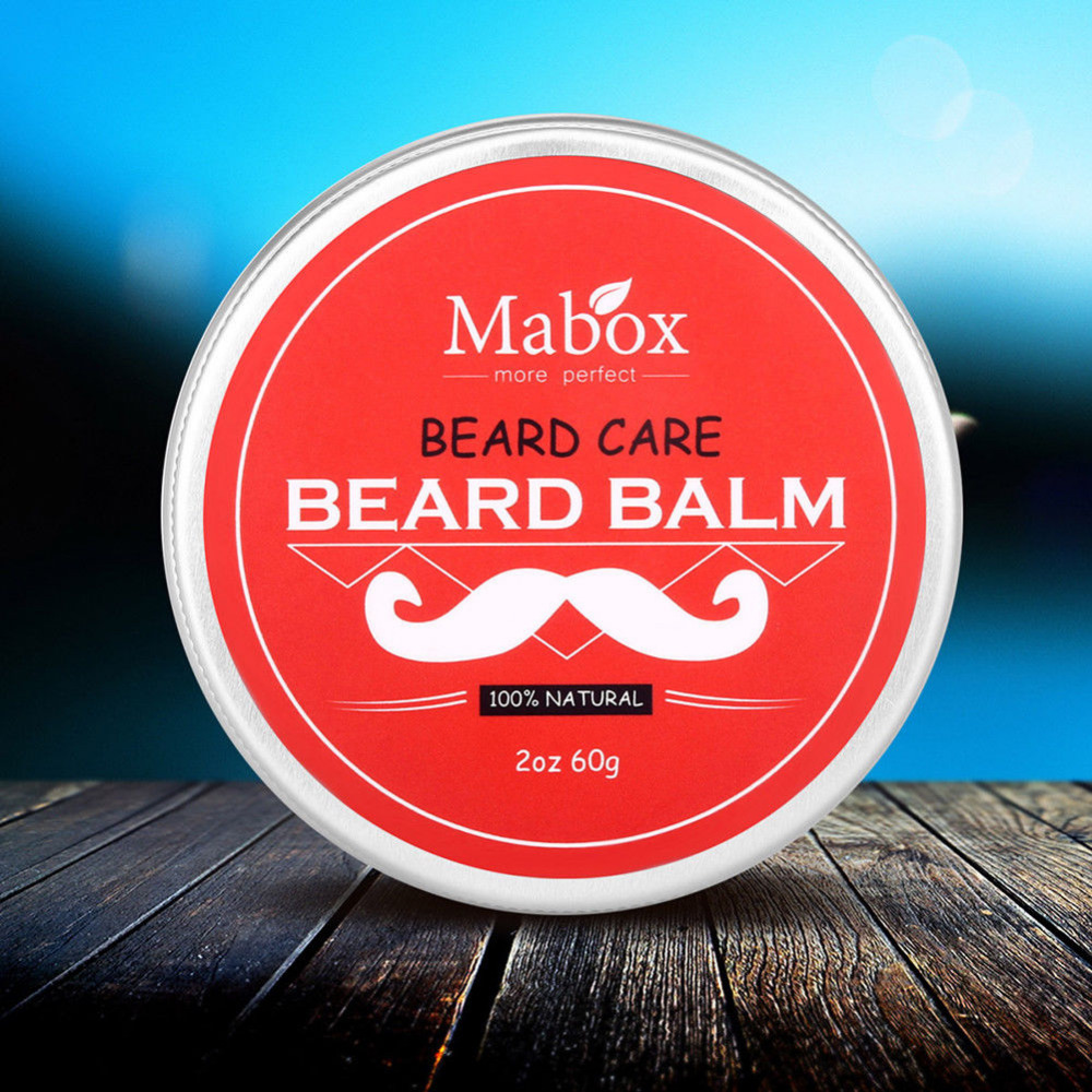 Red Box Moisturizing Nursing Beard Cream 1pc Natural Beard Balm for Gentlemen Beard Used Professional Tool Oil Care Wax Effect 5