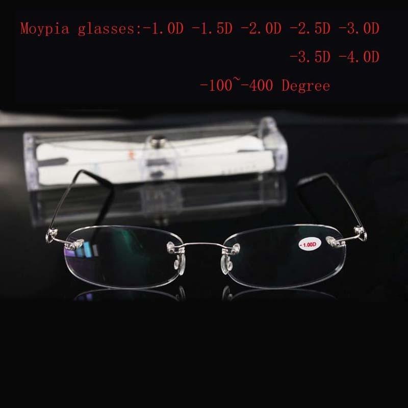 Rimless Metal Frame Yaxın Görünüşlü Şüşə Ultralight Boxed - Geyim aksesuarları - Fotoqrafiya 4