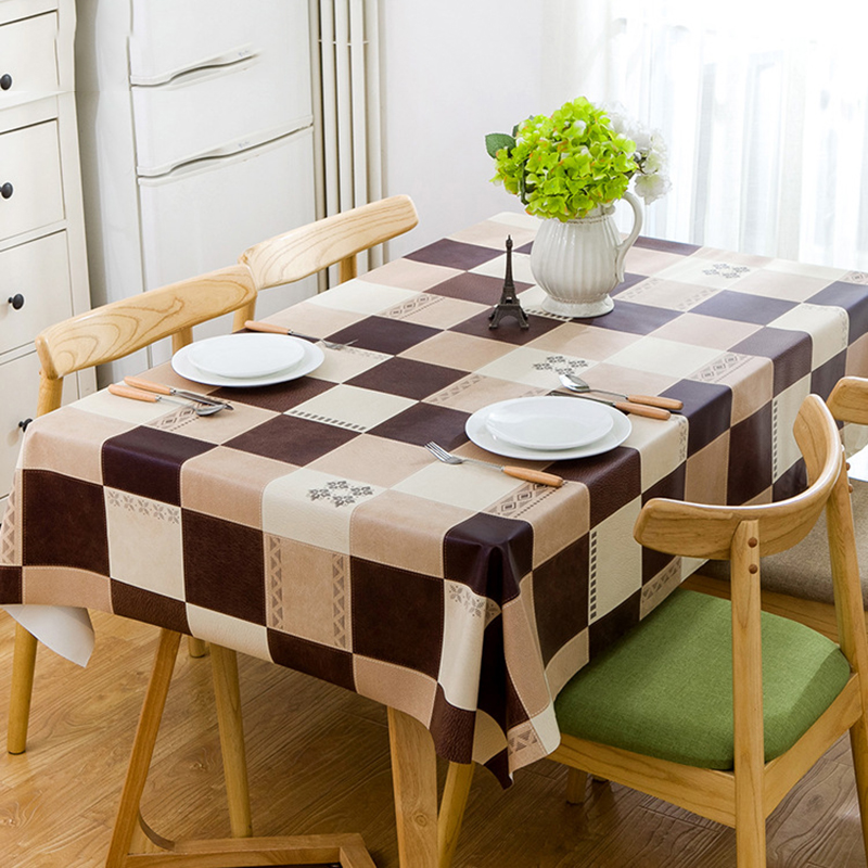 Us 17 32 40 Off European Style Square Rectangular Table Cloth Plastic Pvc Waterproof Dining Cover Home Desk Decoration In Tablecloths From