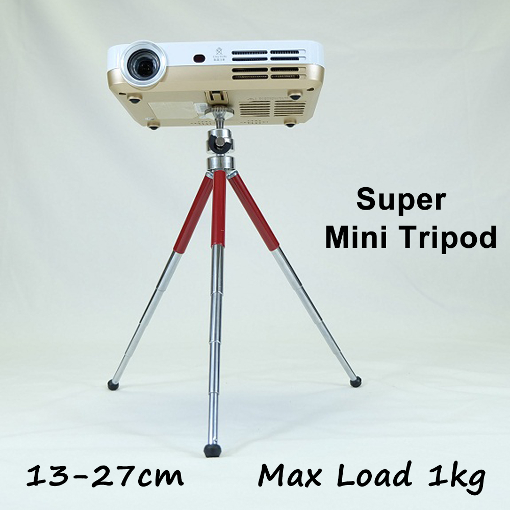 New Mini Stable Camera Tripod Aluminum Flexible Length 13 27cm Loading 1kg for Projector font b