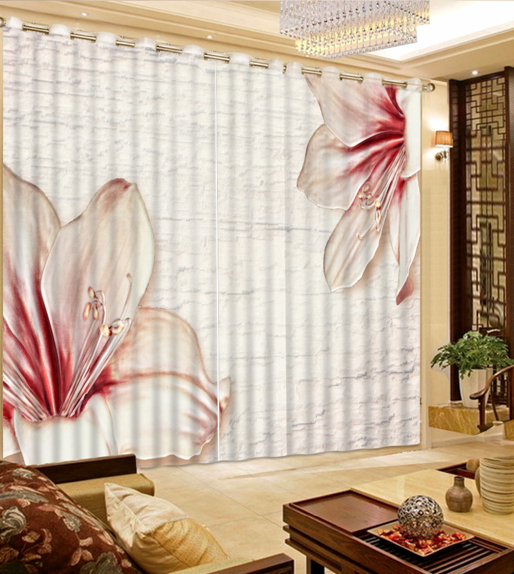 3D Curtain Photo Customize Size Embossed Flowers Curtains For Bedroom Curtains For Living Room Blackout Shade Window