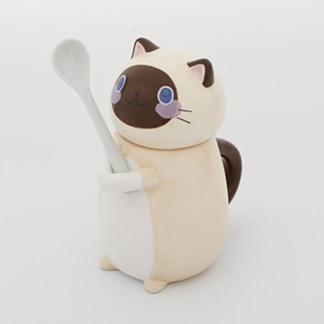 Cute Cat Mug With Lid Handmade Printed Coffee Cups And Mugs With Cat Lid Spoon Ceramic Creative Cartoon Cat Coffee Mug Cup 5