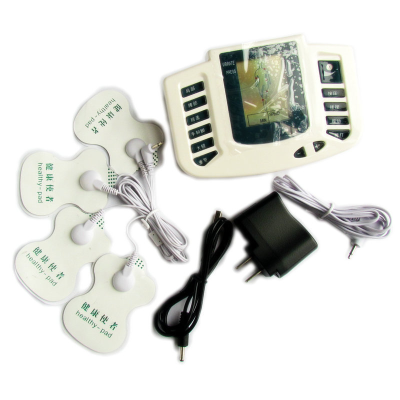 Electrical Stimulator JR-309  Full Body Relax Muscle Massager,Pulse Tens Acupuncture with therapy Slipper+4pads Cheap For Russia hwato computer random pulse acupuncture treatment instrument smy 10a nerve and muscle stimulator tens 10 channels output ce appr