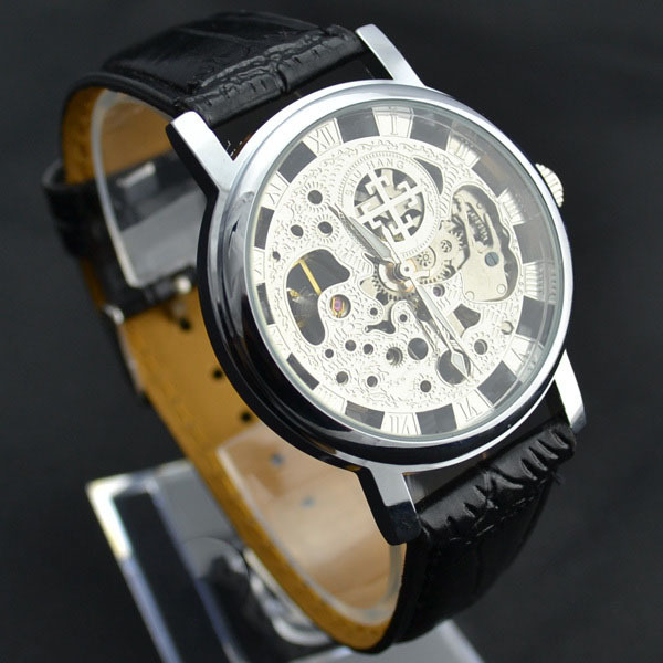 aliexpress com buy 2013 hot silver see through skeleton dial men aliexpress com buy 2013 hot silver see through skeleton dial men women mechanical wrist watch lucky family from reliable women gymnast suppliers on