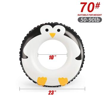 Cartoon baby accessories kids penguin float swimming ring durable children summer swim pool accessories circle floating - K5011-70