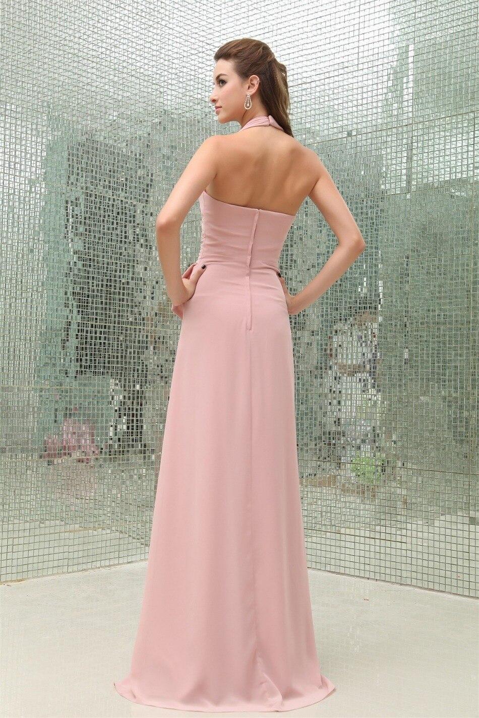 Lujo Vestidos De Dama De Gasa Blush Regalo - Ideas de Vestido para ...