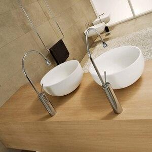 Image 4 - Torneiras de lavatório branco moderno torneira do banheiro cachoeira torneiras único furo torneira da bacia água fria e quente torneiras misturadoras 88096