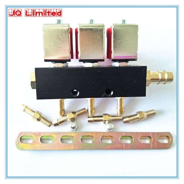High speed silent 3 ohm szyna wtryskiwacza do systemu gazu LPG CNG do samochodów 3 zestawy cylindrów wspólna szyna wtryskiwacza i akcesoria