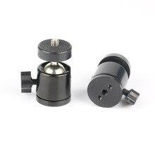 """10 unids/lote Mini cabeza de bola 1/4 """"montaje para trípode de cámara para SB800 SB900 580EX II vidicon Flash"""