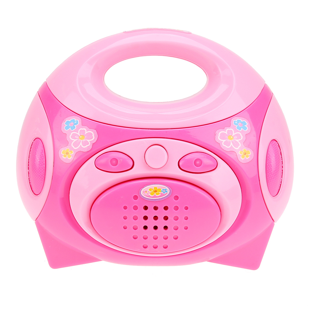 Radio Pink Baby Toys Mini Simulation Kitchen Toys Kids Children Pretend Play House Toy Gift for Children High Quality