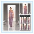 Elegant Plus Size Convertible Bridesmaid Dresses Chiffon Cheap Sexy Strapless Girl Wedding Party Dresses Convertible (SRLV-8472)