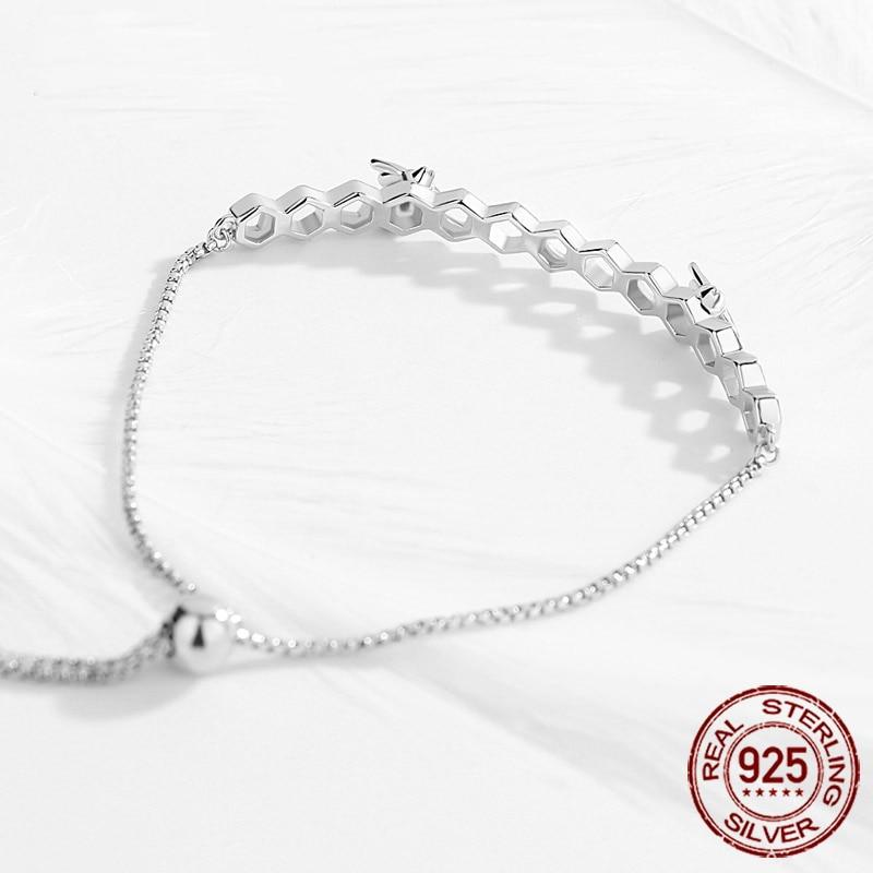 Tongzhe Charm Bracelet 925 Sterling Silver Beads Men Jewelry Cz Heart Luxury Honey Bee