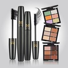 GRACEFUL Fashion Professional Make-Up 6-Color Concealer Primer + 3D Fiber Mascara rimel maquiagem TOOL NOV28