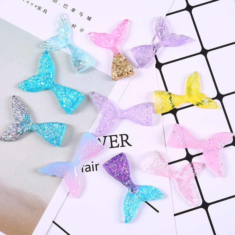 1Pc Mermaid Tail Fluffy Polymer Slime Box Toys For Children Charms Lizun Modeling Clay DIY Kit Accessories Kids Plasticin Gift
