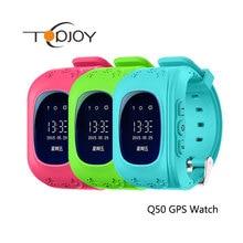 Q50 gps smart watch kid safe smart watch reloj sos llame Localizador Localizador Perseguidor Del Cabrito Del Niño Perdido Anti Monitor