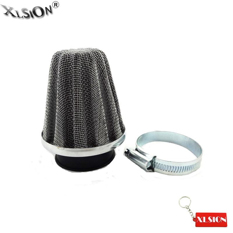 42mm Quad Bike ATV Mushroom Air Filter Silver//Black Performance Straight Neck