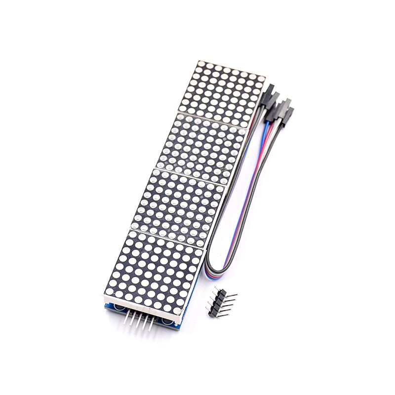 10pcs MAX7219 Dot Matrix Module For Microcontroller 4 In One Display with 5P Line