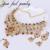 Novo Luxo Mix Cor Índia Kundan Colar Conjunto de 3 PC Mulheres Forma de Flor Mix Crystal & Rhinestone Declaração de Dança Étnica colares